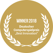Logo Gewinner Deutsche Computerspiele Preis 2018